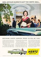 1959 Hertz Rental Car Chevrolet - Vintage Advertisement Car Print Ad J472