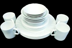 27 Piece white Dinner set with serving wares 4 place setting