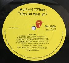 THE ROLLING STONES EXILE ON MAIN STREET UK 1st Press LP + postcards Rates 9/10