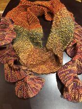 vintage tricoté à la main spirale emballage écharpe