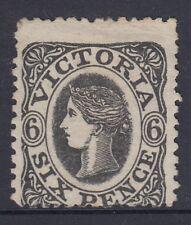 """Victoria  1863  SG107  6d  Black  wmk """"6""""?  mint no gum"""