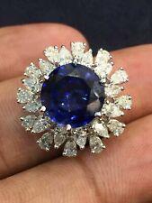 8,42 Cts Birne Cut Natürlich Diamanten Saphir Cocktail Ring In 585 Fein 14K Gold
