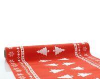 1 Tischläufer White Tree in Rot aus Linclass® Airlaid 40cm x 4,80m - Weihnacht