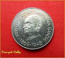 India 1 Rupee of 1969 - Mahatma Gandhi - Kolkata Mint unc Nickel coin