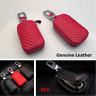 1x Genuine Leather Key Holder Men and Women Key Purse Key Case Car Universal Red