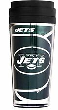Official NFL Teams 16oz Acrylic Travel Tumbler Coffe Mugs (NEW YORK JETS)