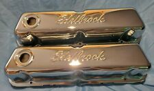 """Edelbrock 4460 Signature Valve Covers 3.7"""" Chrome For Ford 289-351W Except Boss"""