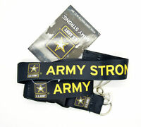 """US ARMY"" Strong Official Licensed Product Black Lanyard Keychain ID Holder"