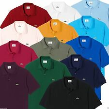 Lacoste Men's Cotton Short Sleeve No Pattern Casual Shirts & Tops