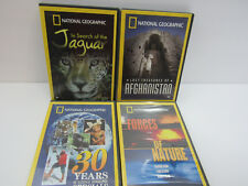 National Geographic - Lot of 4: Jaguar, Afghanistan,Forces of Nature, 30 years