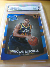 DONOVAN MITCHELL JAZZ 2017 DONRUSS RATED ROOKIE RC # 188 GRADED 10  L@@@K