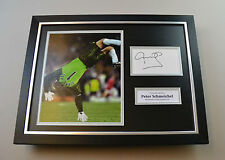 Peter Schmeichel Signed Photo Framed 16x12 Manchester United Autograph Display