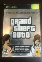 Grand Theft Auto Double Pack (Microsoft Xbox, 2003) Complete With Maps & Sticker