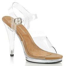 Clear Nude Bikini Contest Heels Fitness Pageant Competition Shoes size 7 8 9 10