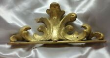 Fregio Cimasa legno Foglia Oro Frieze Ameublemet Decoration Gilded Wood 1800s