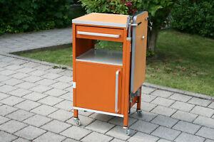 Esstisch Nachttisch Krankentisch Betttisch Pflegetisch Stiegelmeyer Retro Orange