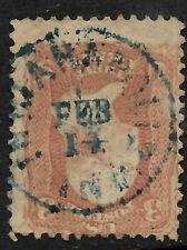 "Sc #65 ""Blue FEB 4 Indy"" Date Town Fancy Cancel SON 3 Cent Washington 1861 81B15"