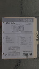 Sony fh-50wx service manual original repair book stereo boombox radio tape deck