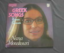 "Vinilo LP 12"" 33 rpm GREEK SONGS by HADJIDAKIS and THEODORAKIS - NANA MOUSKOURI"
