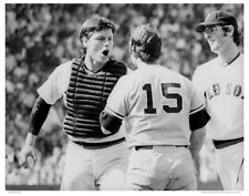 "11"" x 14"" PHOTO: CARLTON FISK THURMAN MUNSON STOLEN BASE FIGHT FENWAY PARK 1973"