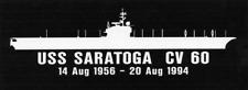 "USS SARATOGA CV 60 Silhouette 4"" x 12"" Decals US NAVY"