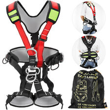 Protection Rock Tree Climbing Full Body Safety Harness With Shoulder Strap 22kn
