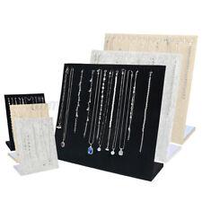 Velvet Necklace Display Pendant Stand Jewelry Organizer Storage Case Holder