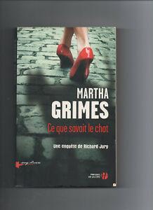 """Martha GRIMES """" Ce que savait le chat """" 1 livre offert pour 4 achetés"""