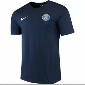 $35 Nike NEYMAR Paris Saint-Germain PSG T-shirt Tee (White Navy blue)Sz S M L XL