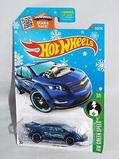 Hot Wheels 2016 Target Snowflake Card #243 Super Volt Blue w/ PR5s