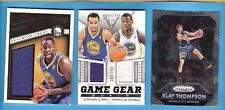 STEPHEN CURRY GAME USED JERSEY DRAYMOND GREEN KLAY THOMPSON PRIZM CARD WARRIORS