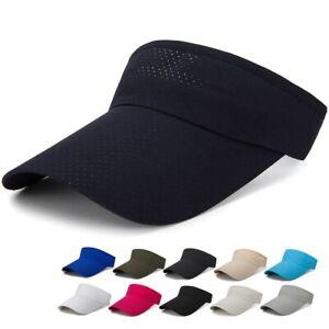 Ladies Womens Girls Sports Visor Adjustable Cap Sports Sun Summer Outdoor Hat