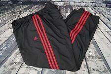Adidas Revo Remix Track Pants Black Red Stripes Poly Cotton Lining Mens XL