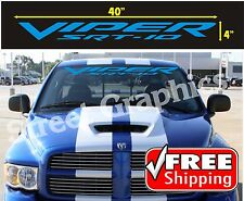 VIPER SRT-10 BLUE WINDSHIELD VINYL DECAL STICKER