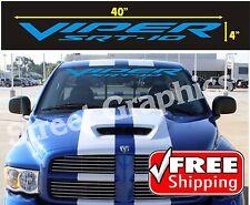 VIPER SRT-10 BLUE WINDSHIELD VINYL DECAL STICKER