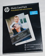 HP Photo Card Pack for Inkjet Printer Make Photos Cards Birthday Invitation NIP