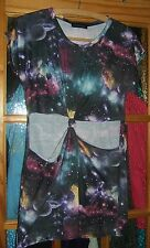 Missguided  Ladies Bodycon -  Multi  Cool Planet Dress - Size S/M - Used Good