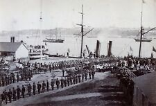 British Army Departs Quebec Canada 1871 Steamship Troops 7x5 Inch Reprint Photo