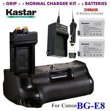 BG-E8 Grip +2x LP-E8 & Charger for Canon EOS 550D 600D 650D 700D T2i T3i T4i T5i