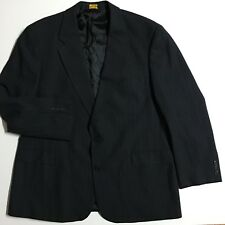 Brooks Brothers BrooksEase 46 Black Gray Pinstripe two button Blazer suit Jacket