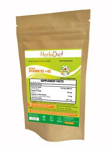 Vitamin K2 (MK7) with D3 (90mcg/5000IU) Cholecalciferol Bone Heart Health Powder