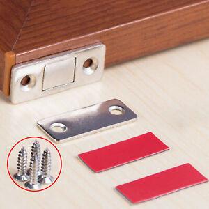 2 x ultradünne starke Magnete Türschrank Schrank Magnetverschluss Verriegelung