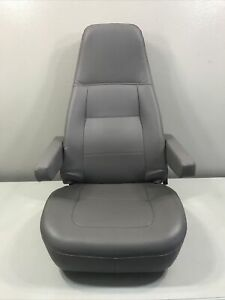 M2 FREIGHTLINER SEMI TRUCK GRAY VINYL BOSTROM AIR RIDE BUCKET SEAT NEW TAKE OUT
