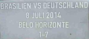 FIFA WM 2014 Brasilien Deutschland vs Brasilien Matchdetail Patch neu
