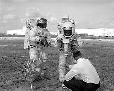 Apollo 13 astronauts Lovell and Haise practice moon EVA Photo Print