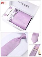 Krawatte Manschettenknöpfe Tuch Tie Clip,4 er Herren Geschenk Set Cufflinks (20)