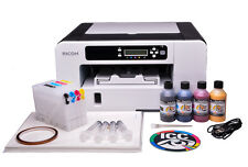 RICOH Aficio SG 3110dn A4 SUBLIMATION Printer and Heat Transfer ink BUNDLE