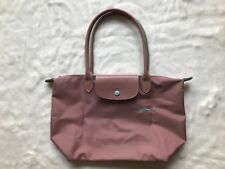 Auth Longchamp Le Pliage Club Collection Horse Embroidery Small Tote Pink S 1d522afc59ef0