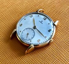 Rare vintage 40's OMEGA men's watch solid 18K yellow gold, turtle lugs