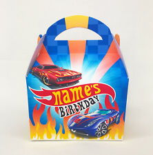 Hot Wheels Cars Personalised Children Party Boxes Gift Favour 1ST CLASS POST